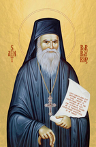 Icon of St. Porphyrios of Kavsokalivia (with scroll)  - (1PO14)