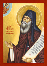 Icon of St. Silouan the Athonite - 20th c. English - (1SI24)