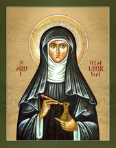 Icon of St. Walburga of Germany - (1WE15)