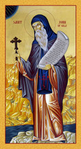 Icon of St. John of Rila - 20th c. English - (1JR15)