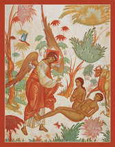 Icon of The Creation of Adam and Eve - Russian - (11T15)