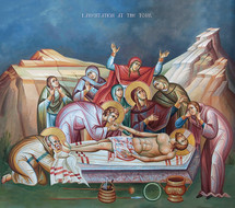 Icon of the Lamentation at the Tomb -  20th c. - (11J21)
