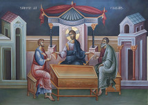 Icon of the Supper at Emmaus - fresco - (11L09)