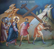 Icon of the Road to Golgotha - 20th c. - (11P05)