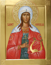 Icon of St. Cecilia of Rome - (1CE10)