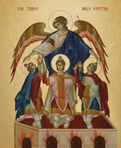 Icon of the Three Youths in the Furnace - English - (1TY12)