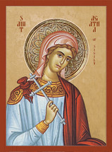 Icon of St. Agatha of Sicily - 20th c. - (1AG16)