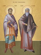 Icon of Sts. Cyrus & John - (1CJ15)