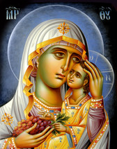 "Icon of the Theotokos ""The True Vine"" - (12G85)"