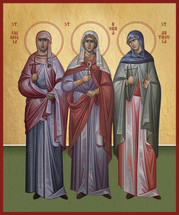 Icon of the Holy Mothers of the 3 Hierarchs - (11L26)