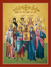 Icon of the Synaxis of the Saints of Gaul - (11L77)