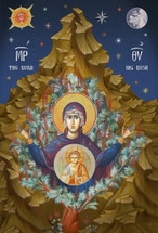 Icon of the Theotokos of the Burning Bush - fresco - (12G79)
