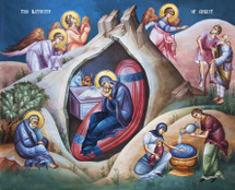 Icon of the Nativity of Our Lord (Christmas) - (11A15)