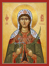 Icon of St. Akylina the Newmartyr of Thessaloniki - (1AK10)