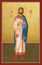Icon of St. Lawrence the Archdeacon of Rome - 20th c. - (1LA16)