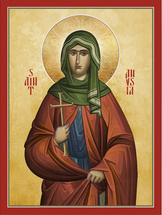 Icon of St. Anysia of Thessaloniki - 20th c. - (1AN85)