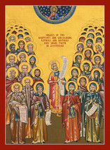 Icon of the Righteous Ascetic Fathers and Mothers - Byzantine - (11Q04)