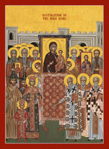 "Icon of the Restoration of Holy Icons ""Sunday of Orthodoxy"" - Byzantine - (11E32)"
