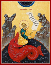 Icon of Jonah and the Whale - 20th c. - (1JW11)