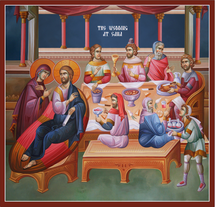 Icon of the Wedding at Cana - 20th c - (11P14)