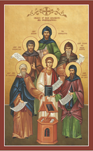 Icon of the Synaxis of Holy Chanters and Hymnographers - (1NC20)