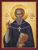 Icon of St. Cuthbert of Lindisfarne - (1CU10)