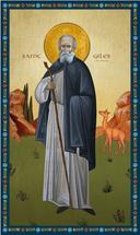Icon of St. Giles the Hermit - (1GA50)