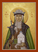 Icon of St. Ina of Wales - (1IN25)
