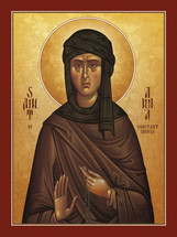 Icon of St. Anna of Constantinople - (1AN49)