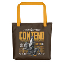 Contender for the Faith Tote bag