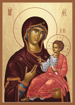 Icon of the Theotokos the Mother of Life - (12G80)