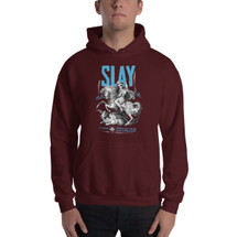 "Saint George ""Slay"" – Men's Pull Over Hooded Sweatshirt"