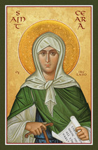 Icon of St. Ceara of Ireland - 20th c. - (1CE12)