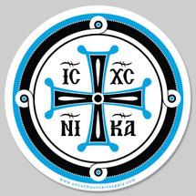 """Jesus Christ Conquers"" Sticker - 5"""