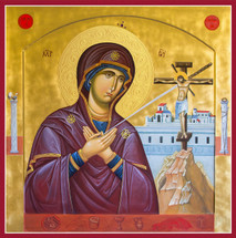 "Icon of The Theotokos, ""Grieving Mother"""