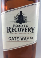SOLD! BUNDABERG RUM ROAD TO RECOVERY GATE-WAY ST 700ML