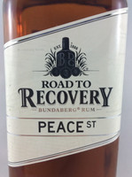 SOLD! BUNDABERG RUM ROAD TO RECOVERY PEACE ST 700ML