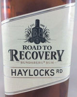 SOLD! BUNDABERG RUM ROAD TO RECOVERY HAYLOCKS RD 700ML
