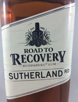 SOLD! BUNDABERG RUM ROAD TO RECOVERY SUTHERLAND RD 700ML
