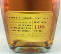 SOLD! RARE STAFF ISSUE BUNDABERG UP RUM NUMBERED! #106 700ML
