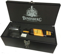 SOLD! -BUNDABERG RUM SELECT VAT TOOL BOX WITH RUM 700ML-