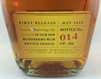 SOLD! RARE STAFF ISSUE BUNDABERG UP RUM NUMBERED! #14 700ML