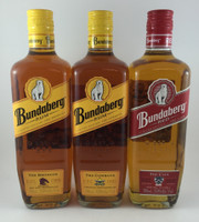SOLD! BUNDABERG RUM BRONCOS COWBOYS CATS SET 700ML''