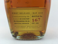 SOLD! RARE STAFF ISSUE BUNDABERG UP RUM NUMBERED! #167 700ML