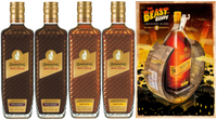 BUNDABERG RUM BANANA & TOFFEE PLUS COFFEE & CHOCOLATE ROYAL LIQUEUR MIXED PACK BONUS BEAST OF BUNDY POSTER