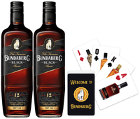 BUNDABERG RUM BLACK VAT 244 12 YEAR OLD TWIN PACK BONUS GENUINE PLAYING CARDS