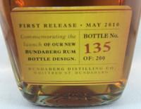 Sold! Rare Staff Issue Bundaberg Up Rum Numbered! #135 700ml