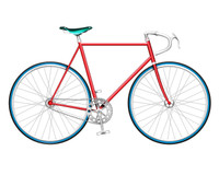 Red Single Speed Bike