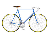 Navy Single Speed Bike