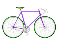Purple Single Speed Bike